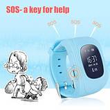 Детские умные смарт-часы с GPS Smart Watch UWatch Q50/G36 Light Blue, фото 4
