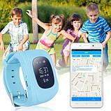 Детские умные смарт-часы с GPS Smart Watch UWatch Q50/G36 Light Blue, фото 5