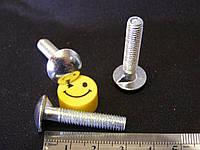 Болты мебельные от производителя М6х30 мм по ГОСТ 7801 (DIN 607)с полукруглой головкой и усом