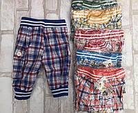 Бриджи детские для мальчика 1-4 года в клетку на манжете,в упаковке разные цвета