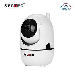 Поворотная Wi-Fi ip камера Sectec 291G White 1080p 2мп + облако угол обзора 110 градусов,датчик движения