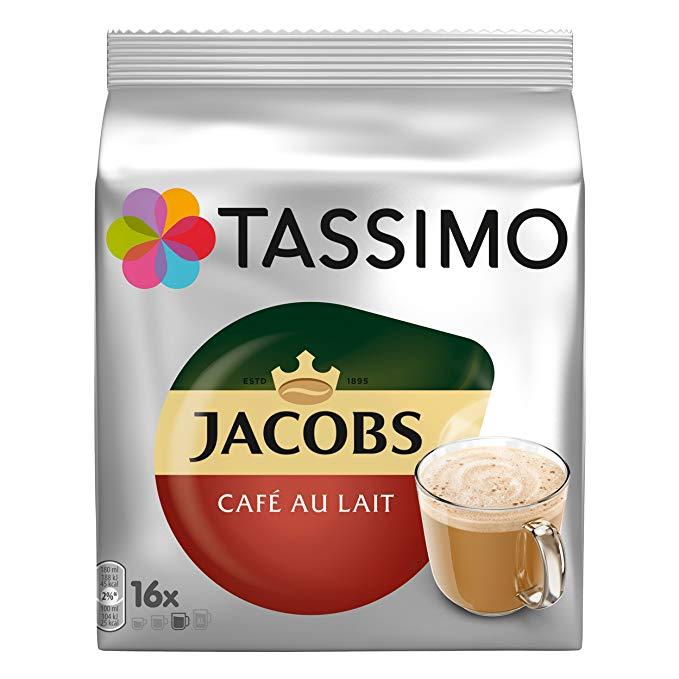 Кофе в капсулах Tassimo Jacobs Cafe Au Lait 16 порций. Германия Тассимо