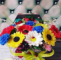 Букет полевых цветов с мыла ручной работы