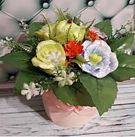 Букет  цветов с мыла ручной работы