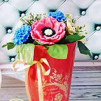Букет цветов полевых в с мыла ручной работы