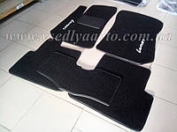 Ворсовые коврики в салон ZAZ Lanos (Черные), фото 1