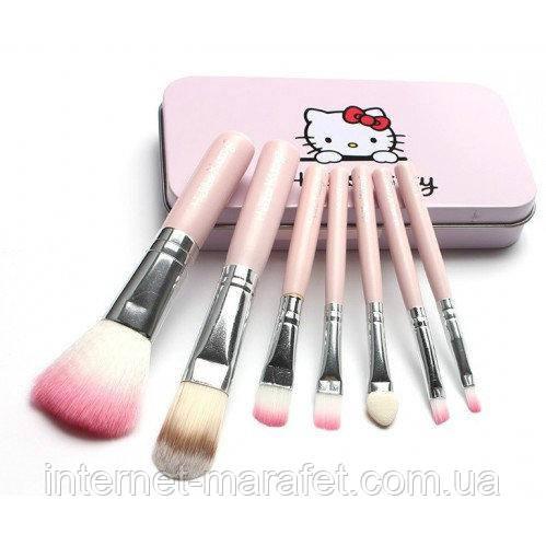 Набор кисточек для макияжа Hello Kitty (7 штук)