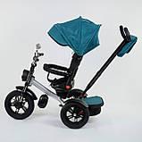 Трехколёсный детский велосипед Best Trike 4490 - 2209 с надувными колесами, ПУЛЬТ ВКЛ. СВЕТА И ЗВУКА, фото 3