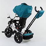 Трехколёсный детский велосипед Best Trike 4490 - 2209 с надувными колесами, ПУЛЬТ ВКЛ. СВЕТА И ЗВУКА, фото 4