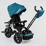 Трехколёсный детский велосипед Best Trike 4490 - 2209 с надувными колесами, ПУЛЬТ ВКЛ. СВЕТА И ЗВУКА, фото 5