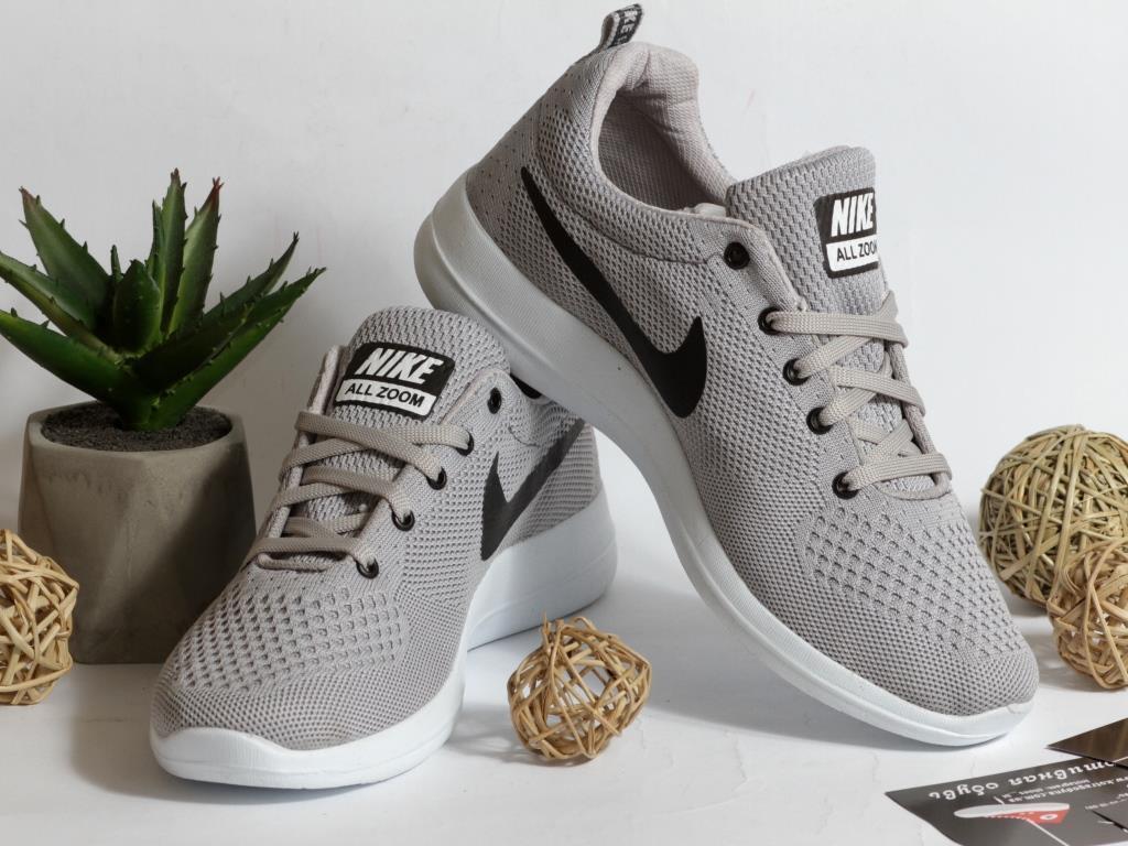 0310 Кроссовки Nike Zoom Серые. Текстиль