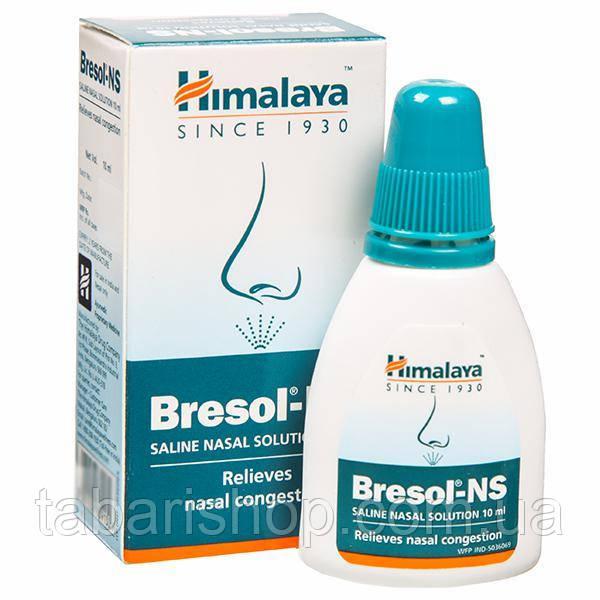 Краплі-спрей для носа Бризол, Бресол, Bresol-NS Himalaya Saline Nasal Solution, 10 мл