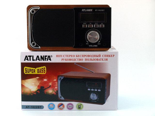 Колонка портативная акустическая Atlanfa AT-1822ВТ,FM, 6W + USB и функциейPower Bank