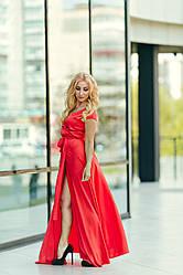 Длинное шелковое платье Луана
