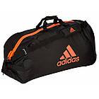 "Сумка спортивная на колесах Adidas Trolley ""Martial arts""  Polyester adiACC057 Черная с красным, фото 3"