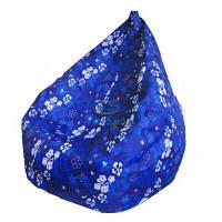 Кресло груша Принт Синие Цветы, фото 1