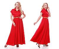 Роскошное платье макси в пол  Алена красное, фото 1