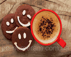 Картина по номерам Какао и веселое печенье (BK-GX28408) 40 х 50 см  [Без коробки]