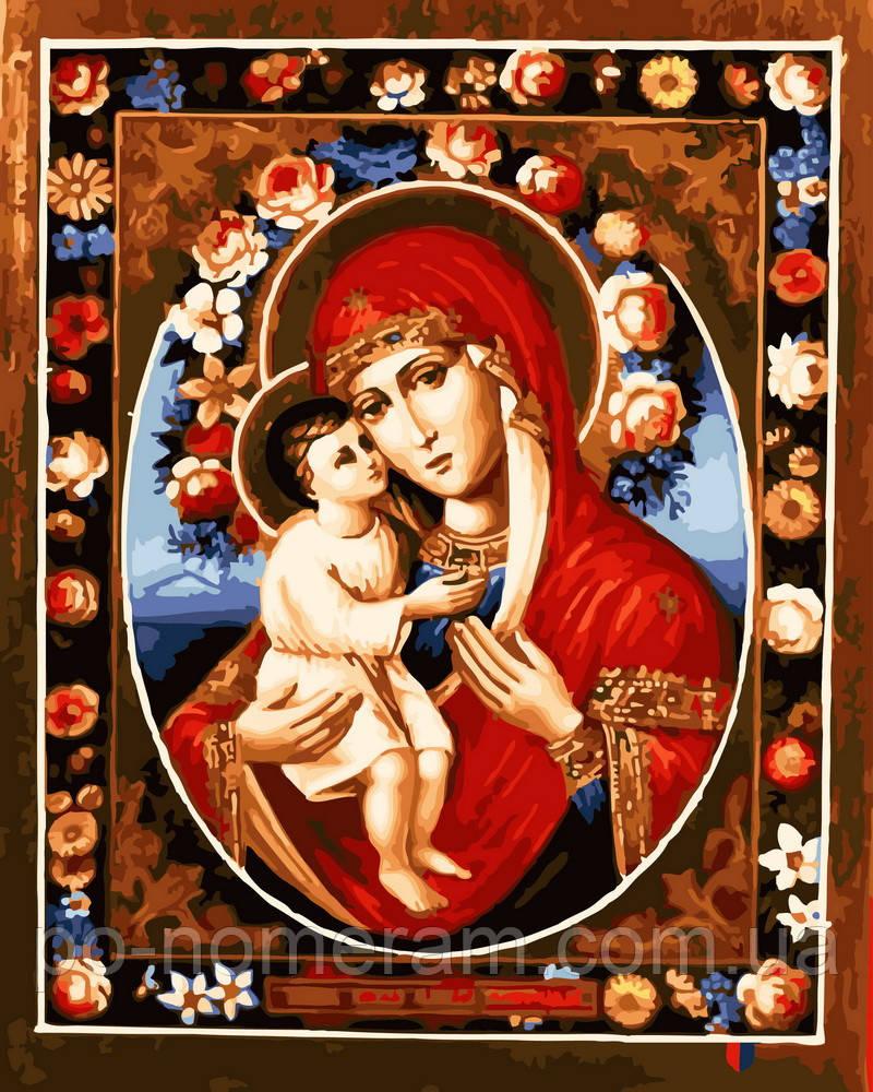 Картина за номерами Феодотівська ікона Божої Матері (BRM22605) 40 х 50 см