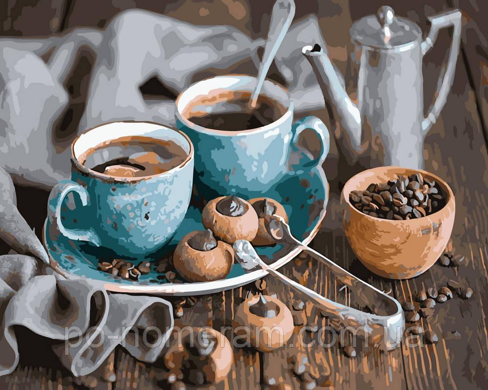 Раскраска для взрослых Кофе и трюфеля (BRM5904) 40 х 50 см ...