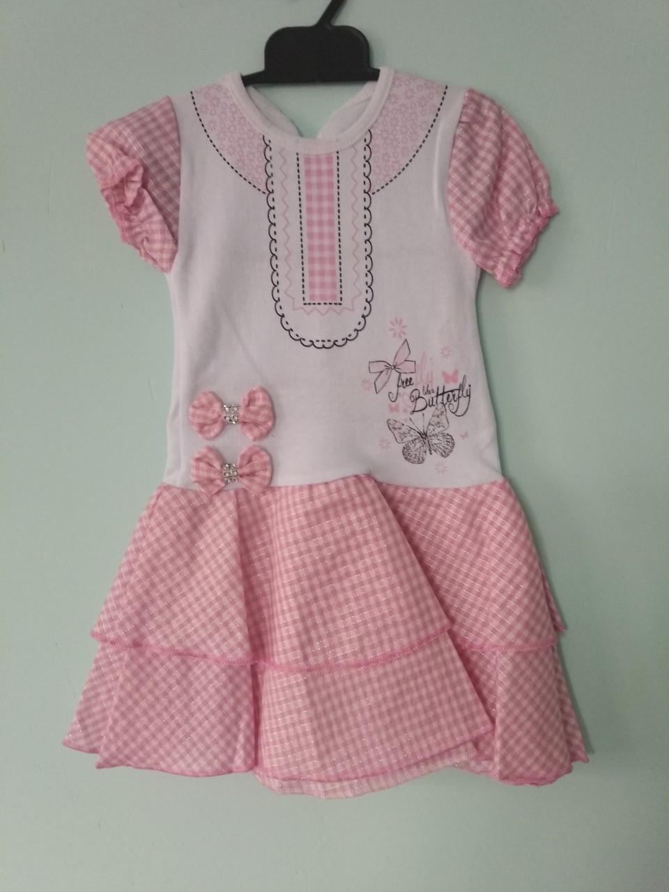 Платье летнее хлопок для девочки 2 года.