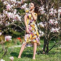 Женское летнее платье с цветочным принтом. ВС-5-0519