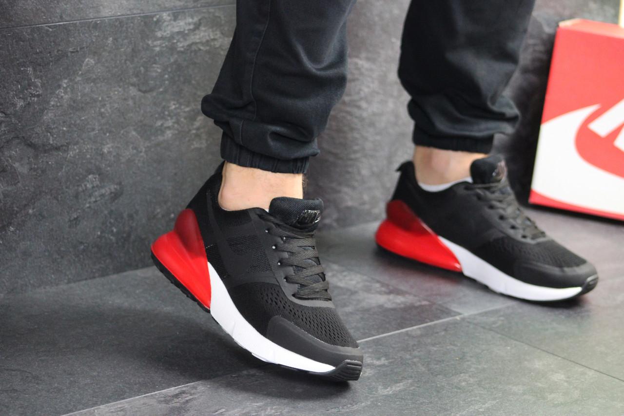 Мужские кроссовки черные с красным Nike 7926
