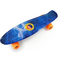 Пенни Борд «Звездное небо » 22″ оранжевые колеса