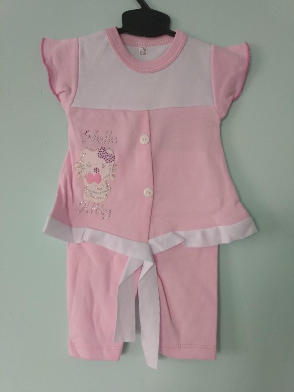 Туника с бриджами хлопок для девочки 9-12 месяцев.