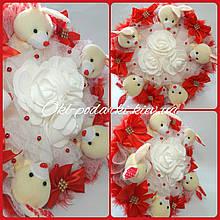 Букет с мягких игрушками Зайки / букет из зайчиков / плюшевый букет / подарок на день рождения