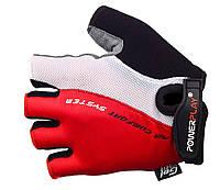 Велоперчатки с погашением вибрации Power Play. Красный