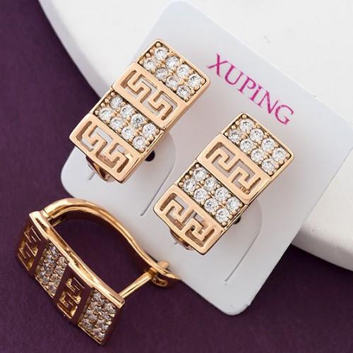 Серьги Xuping длина 1.5см  позолота 18К с983