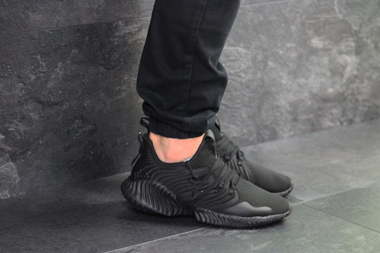 Мужские кроссовки черные Adidas 7928
