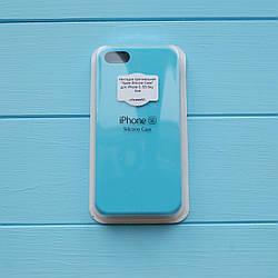 Накладка Apple Silicone Case для iPhone 5/5S Sky blue