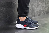 Мужские кроссовки темно синие с белым Adidas 7930