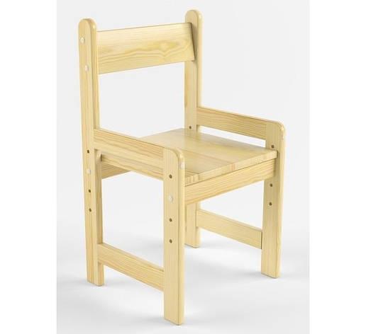 Деревянный стульчик растущий, сосна 26-30-34, фото 2