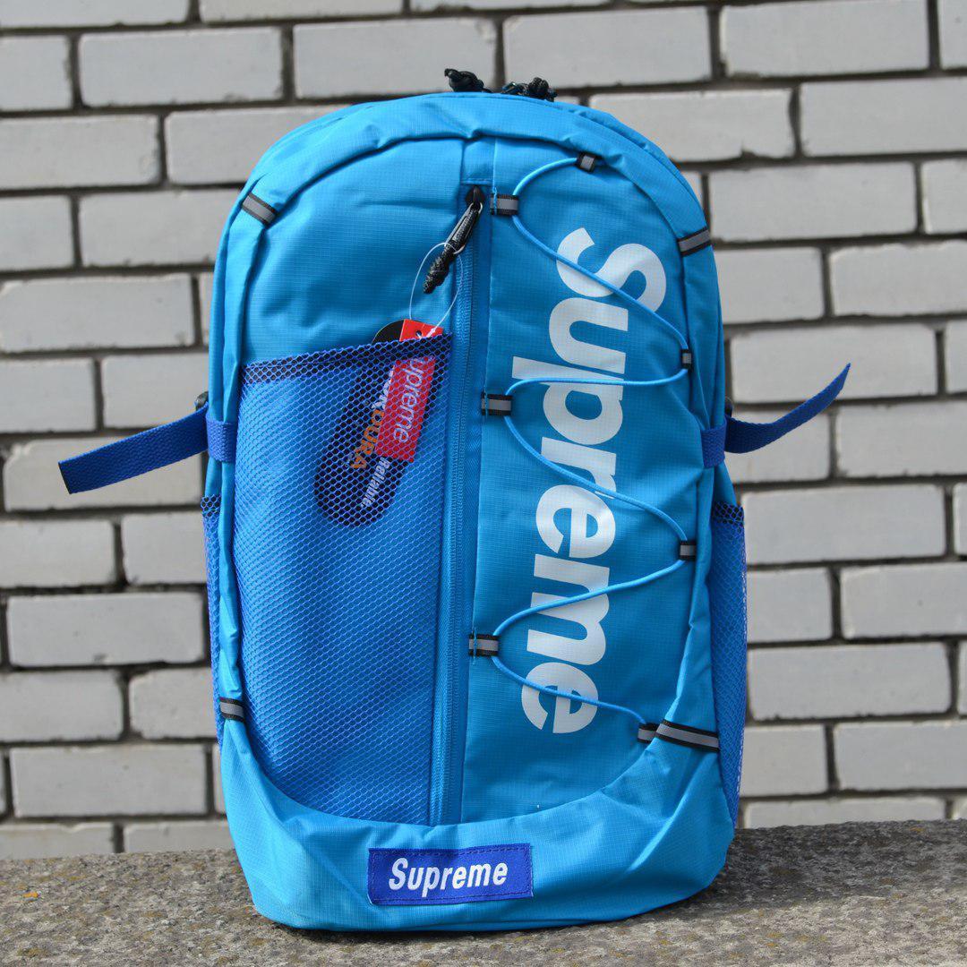 Рюкзак Supreme Box Logo Mountaineering Blue
