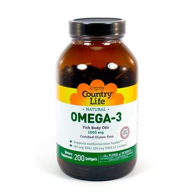 БАД Омега-3 рыбий жир капс.(100шт.США Country Life)
