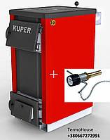 """Дровяной котел """"Kuper"""" мощностью 12 кВт (Купер) с механической автоматикой (регулятор тяги)"""