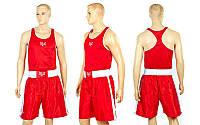 Форма боксерська Майка+труси МА-6011 червона Китай М