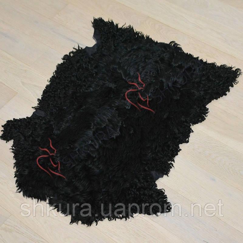 Шкура каракуля черного цвета