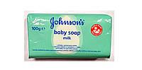 Johnson's baby детское мыло с молочными протеинами и лосьоном для тела  100 g