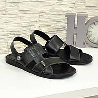 Кожаные мужские сандалии черного цвета. В наличии 42,43 размеры