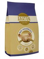 Корм Araton Cat Adult No Hairball для выведения комочков шерсти у кошек 15 кг