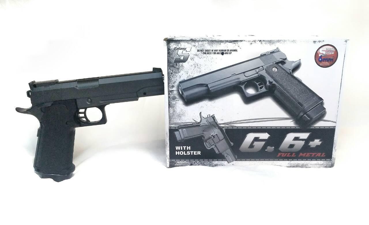 Пистолет металлический G 6+ на пульках