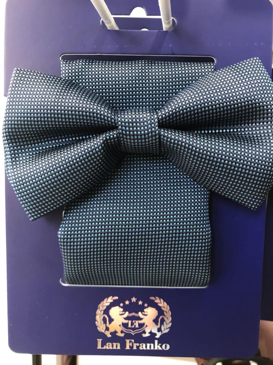 Комплект галстук-бабочка мужской с платочком