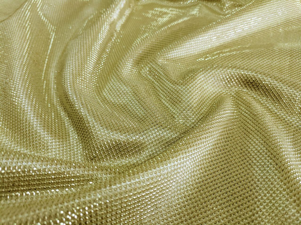 Трикотаж диско чешуя, золото