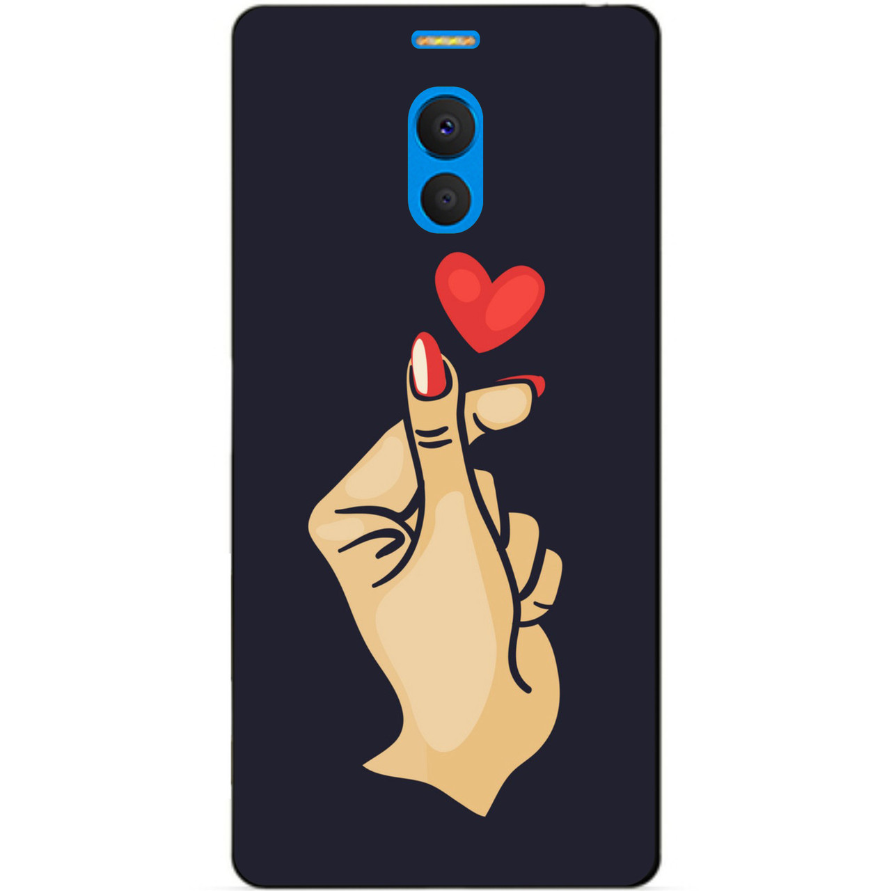 Силиконовый бампер чехол для Meizu M6 Note с рисунком Знак любви