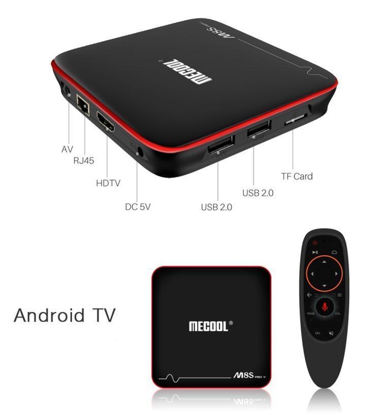 Тв приставка MeCool M8s pro w 2Gb/16Gb (андроид тв, смарт тв, TV BOX, медиаплеер) X96, W95