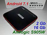 Тв-приставка MeCool M8s pro w 2Gb/16Gb (андроїд тб, смарт тв, TV BOX, медіаплеєр) X96, W95, фото 2
